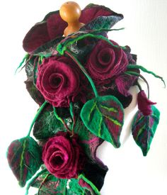 Feutré femme feutre laine bijoux ART écharpe châle-Midnight