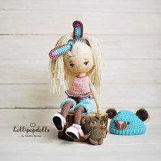 KatushkaMorozova EMMA - handmade crochet doll by Katushka Morozova / crochet toy / Exclusive doll / final product Crochet Doll Pattern, Crochet Dolls, Crochet Patterns, Crochet Hats, Cute Crochet, Beautiful Crochet, Doll Eyes, Amigurumi Doll, Doll Patterns