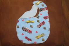 Waterproof Childs Bib Fire Trucks Special Needs Child Waterproof Barrier bib Snaps ProCare lining Reversible Child Clothing Protector  Fire by NammersCrafts on Etsy