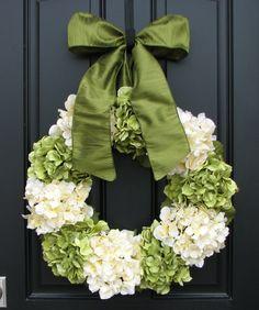 Hydrangea Wreaths Summer Hydrangea Blooms 22 door twoinspireyou