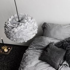 The Eos Grey Shade by Vita Copenhagen is made from natural goose feather. The light is warm and diffusing. Tripod Table Lamp, Table Lamp Shades, Eos, Designers Guild, Farrow Ball, Design Shop, Girls Bedroom, Bedroom Decor, Bedrooms