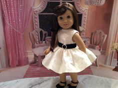 American Girl Doll Clothes-Custom Couture Holiday Dress For Grace by gofancynancy on Etsy