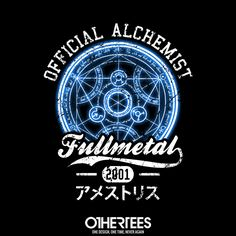 """""""Official Alchemist"""" by bomdesignz T-shirts, Tank Tops, Sweatshirts and Hoodies are on sale until 30th December at www.OtherTees.com Pin it for a chance at a FREE TEE #FullmetalAlchemist #Anime #OtherTEES"""