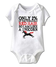 Love this White 'Only 2% Of The World Has Red Hair' Bodysuit - Infant on #zulily! #zulilyfinds