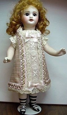 "Mignonnette Dress to fit 6 1/2-7 1/4"" All Bisque Doll"