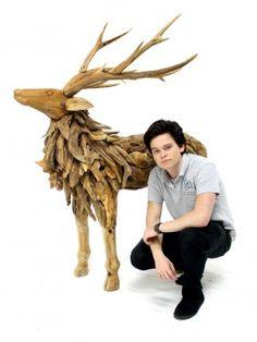 Event Prop Hire: Rustic Wooden Reindeer