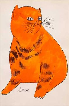 Cats Named Sam by Andy Warhol. Andy Warhol prints for sale at Guy Hepner. NYC art gallery featuring pop art, urban art, street art and photography. Pop Art, Pittsburgh, Tier Zoo, Illustrator, Andy Warhol Art, Image Chat, Cat Colors, Cat Names, Cat Sitting