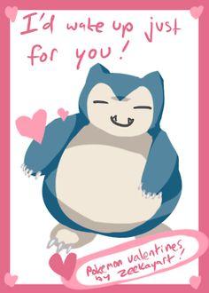 Pokemon Valentine featuring Snorlax.