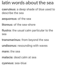 Latin words about the sea books/writing writing words, writi Book Writing Tips, Writing Words, Writing Help, Writing Skills, Writing Prompts, Writing Ideas, Unusual Words, Rare Words, Unique Words