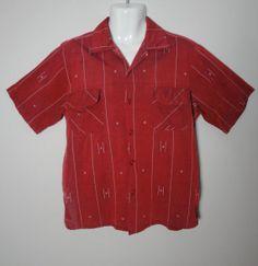 Vintage 1950s 50s Mens Cotton Shirt  by littlestarsvintage on Etsy, $26.00