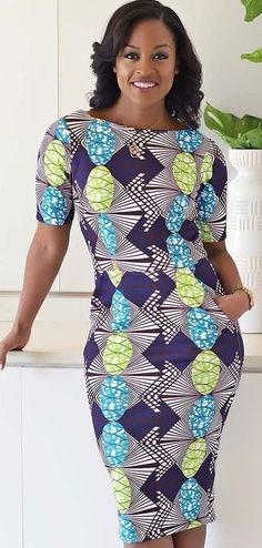 Beautiful Multicoloured African Dress I came across these beautiful African Print Dress. It is stunning and can be worn on many instances. I like to style it up or down depending on the occasion. Ankara Dress Styles, Kente Styles, African Print Dresses, African Dresses For Women, African Attire, African Wear, African Fashion Dresses, African Women, Ghanaian Fashion