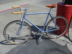 Custom Fuji Blue Build by Manifesto Bicycles, via Flickr