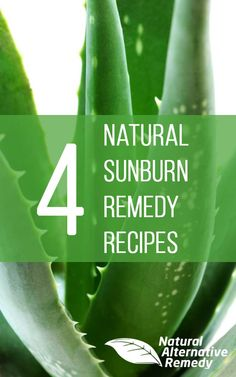 We gave you our top 10 home remedies for sunburn. Now we're back with 4 simple recipes to make your own natural powerhouse skin soothers! #sunburnremedies #funinthesun #naturalremedies