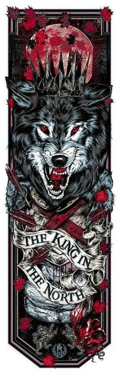 Rhys-Cooper-Game-Of-Thrones-KING-IN-THE-NORTH-Crowned-Direwolf-Call-the-Banner-Series-2