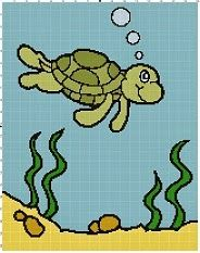 Graphghan Crazy Intarsia Crochet - Turtle Graph   ...