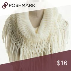 White Fishnet Fringe Infinity Scarf This infinity scarf is perfect for any outfit! Especially during the winter time! This scarf is 100% acrylic! The measurements are 14 inches X 49 inches! Can be wrapped twice (like the picture! Accessories Scarves & Wraps