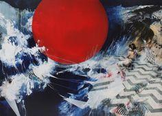 Ian Francis. A Red Sphere Grows, 2012. Mixed media... via http://darksilenceinsuburbia.tumblr.com/post/42753232467/ian-francis-a-red-sphere-grows-2012-mixed-media