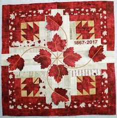 The second stop today is FibreChick. Bobbins loves the added embroidery on their block- absolutely . Flag Quilt, Quilt Blocks, Moose Quilt, Patriotic Quilts, Quilting Projects, Quilting Designs, Quilting Ideas, Canadian Quilts, Quilts Canada