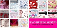 200  Photoshop Hearts Brushes for Valentine
