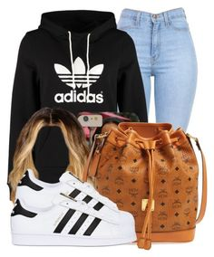 """;)"" by nasiaamiraaa ❤ liked on Polyvore featuring adidas Originals, MCM and NanaOutfits"