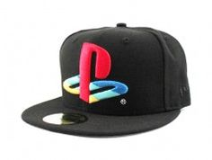 Playstation New Era 59Fifty Fitted Hats (Playstation x New Era Cap Gray Under Brim)
