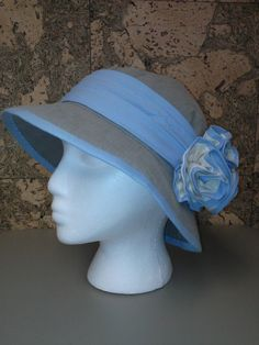 How to make a linen hat. Perfect for summer! #sewing
