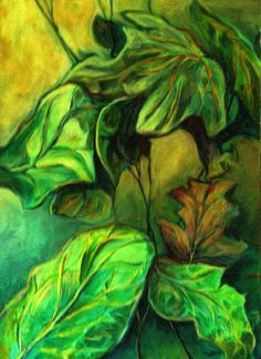 """""""Leaves, what else?""""-acrylic"""