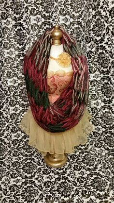 Pink green multi bulky infinity scarf