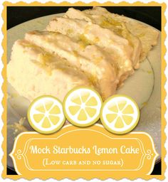 Mock Starbucks Iced Lemon Cake (S) - delicious! Recipe includes single serving o. - Mock Starbucks Iced Lemon Cake (S) – delicious! Recipe includes single serving option as well as - Low Carb Recipes, Snack Recipes, Dessert Recipes, Cooking Recipes, Snacks, Low Carb Sweets, Low Carb Desserts, Isagenix, Trim Healthy Momma