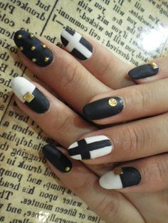 Black, white,  and gold