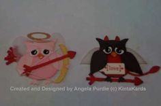 Naughty and Nice Valentine Punch Art Owl by Kinta - Cards and Paper Crafts at Splitcoaststampers