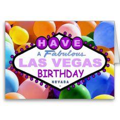 have a fabulous las vegas birthday card birthdays pinterest