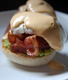 Avocado Eggs Benedict with Chipotle Hollandaise. Pretty much all my fave things in one dish...