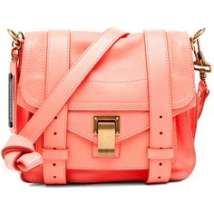 Proenza Schouler PS1 Pouch in Neon Coral found on Polyvore. WANT, WANT WANT!!!