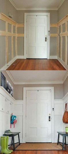 Ideas for Creating amazing Small Entryway . Ideas for Creating amazing Small Entryway Home Improvement Projects, Small Entryways, House, Small Spaces, Home Projects, Home, Home Remodeling, New Homes, Home Renovation