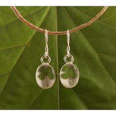 @Overstock - A stylish four-leaf clover is specially preserved with resin in these earrings to keep its natural color and fresh look. According to legend, each leaf represents something unique and significant.http://www.overstock.com/Worldstock-Fair-Trade/Sterling-Silver-Four-Leaf-Clover-Earrings-Mexico/7499478/product.html?CID=214117 $29.99