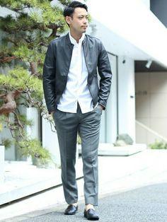STUDIOUS 神南店   田中さんのライダースジャケット「STUDIOUS STUDIOUS ラムレザーシングルライダース MADE IN JAPAN」を使ったコーディネート