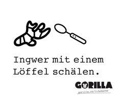 HOW TO: Ingwer mit einem Löffel schälen - GORILLA