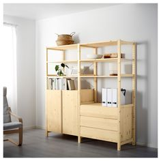 IVAR 2 section unit w/cabinet & chest - IKEA
