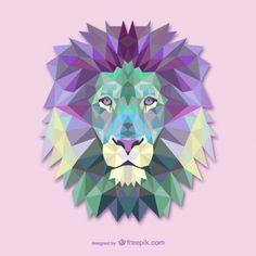 Vetor triângulo leão ilustração                                                                                                                                                                                 Mais