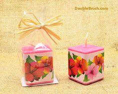 Hibiscus Candle Hawaiian Party Favor Hawaiian by doublebrush, $5.30