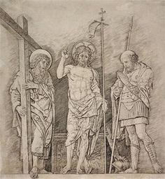 Andrea Mantegna The Resurrection of Christ print for sale. Shop for Andrea Mantegna The Resurrection of Christ painting and frame at discount price, ships in 24 hours. Cheap price prints end soon. Michelangelo Artist, Santa Maria, Andrea Mantegna, Web Gallery Of Art, Fine Art Drawing, Art Drawings, High Renaissance, Religious Paintings, Amazing Drawings