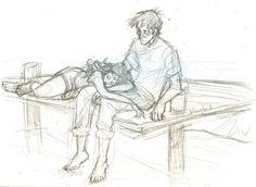 Harry and Ginny by burdge Fanart Harry Potter, Harry Potter Drawings, Harry Potter Ships, Harry Potter Universal, Harry Potter World, Harry Und Ginny, Harry And Hermione, Ginny Weasley, Burdge Bug