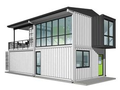 Container House - Foxworth Architecture - Container House 2 - Louisville, KY (Perspective) - Who Else Wants Simple Step-By-Step Plans To Design And Build A Container Home From Scratch? Container Design, Shipping Container Home Designs, Storage Container Homes, Shipping Containers, Container Van, House 2, Tiny House, House Roof, Building A Container Home