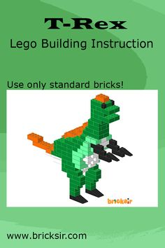 Build a Dinosaur T-Rex with Bricksir step-by-step lego building instructions. Available in iPhone and iPad. Free download at appsto.re/us/WRyX6.i #bricksir #lego #kidsactivities #homeschool www.bricksir.com Lego Activities, Holiday Activities, Lego Therapy, Lego Dino, Lego Club, Lego Table, Dinosaur Crafts, Lego For Kids, Preschool Letters