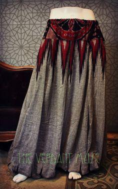 Size L/XL Sari Pantaloons 4 Yard Vintage Cotton by theverdantmuse