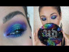 389ed78d093 Urban Decay Elements Palette Tutorial | Purple Green Blue Makeup - YouTube  #EyeshadowIdeas Eyeshadow Looks