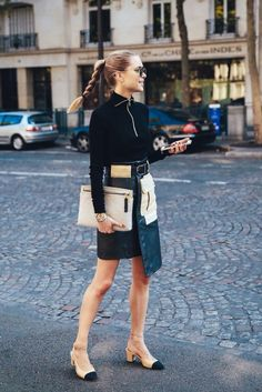 The classic #Chanel two-tone shoe is back #ChiaraFerragni #SongOfStyle #CandelaNovembre PFW's Street Style Ready-to-Wear Spring/Summer 2016 Paris Fashion Week. #ParisFashionWeek #PFW #Paris #FashionWeek #SpringSummer #ReadyToWear #RTW #SS16 #Fashion #Designers #RunWay #Models #Celebrities #Trends #FashionBlogger #Blogger #Fashionista #Brands #FrontRows #CatWalk #Outfits #Inspirations #Love #FashionIcon #StreetStyle #TrendiestPeople