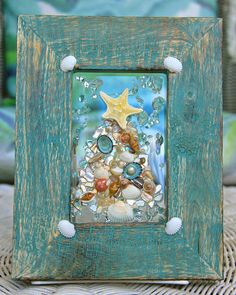 Sea Glass Art for Holiday Decor Christmas in July Nautical