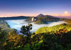Bromo Tengger Semeru National Park is located in East Java, Indonesia. via: indonesia. Foto Nature, All Nature, Places Around The World, The Places Youll Go, Places To See, Beautiful World, Beautiful Places, Beautiful Pictures, Beautiful Scenery